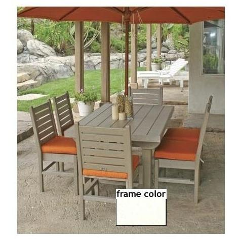 Eagle One Recycled Plastic Cape Cod 60 Inch Patio Dining Set - White