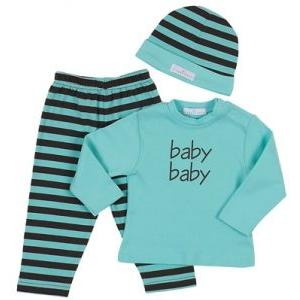 Elegant Baby Fashion Set 12 Month - Aqua/Chocolate