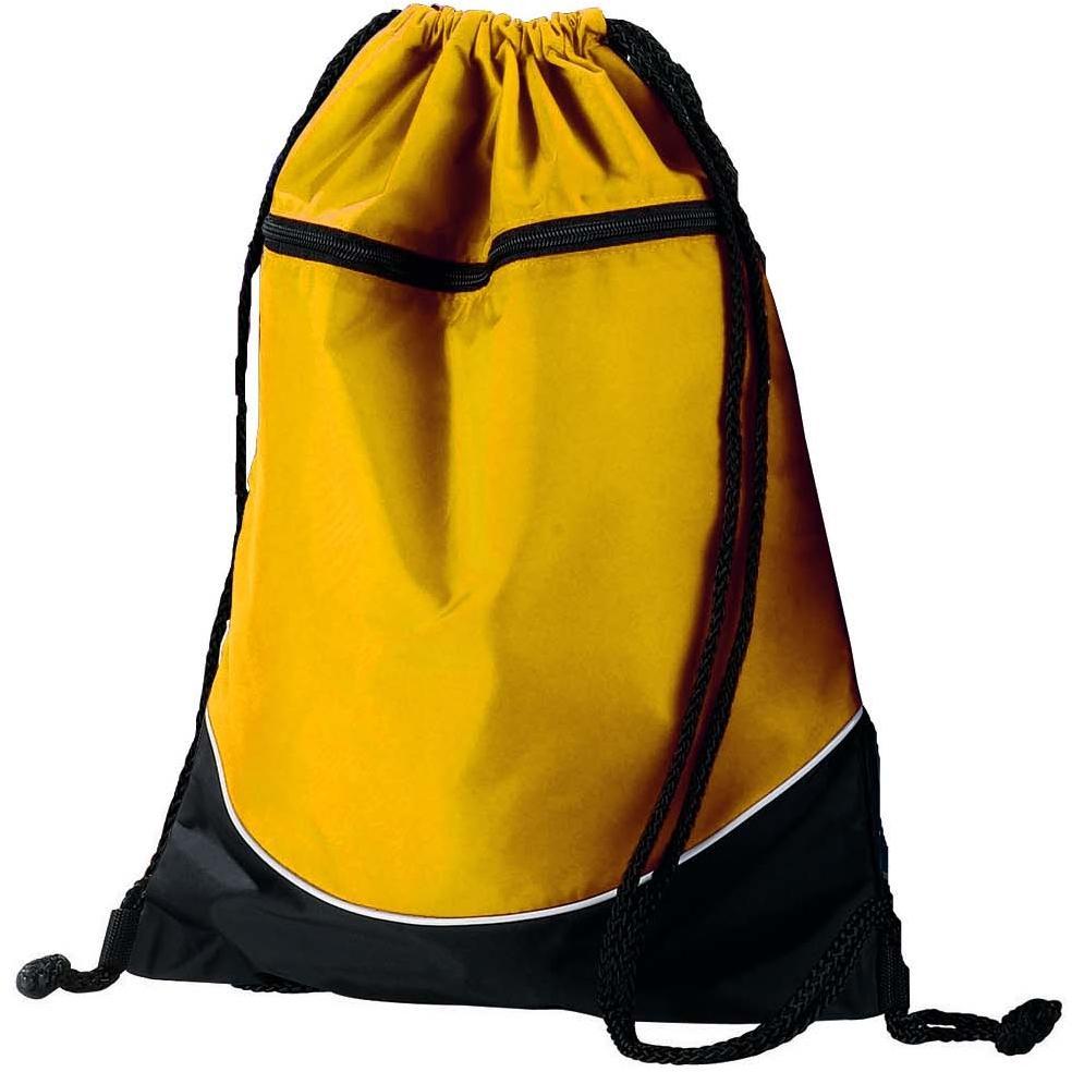 Augusta Tri-color Drawstring Backpack - Gold/black
