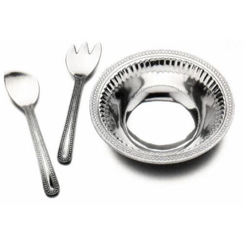 Wilton Armetale Flutes & Pearls 3-Piece Salad Set