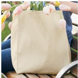 Port Authority Organic Grocery Tote Bag - Natural