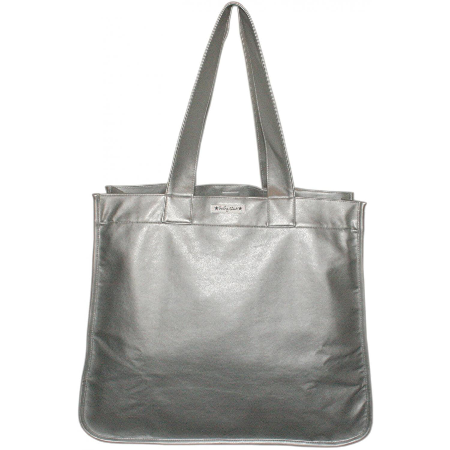Baby Star Rock The Tote Metallic Diaper Bag - Silver.