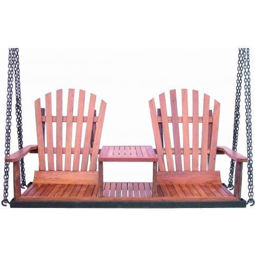 Groovy Stuff Teak Wood Adirondack Swing Bench - TF-684