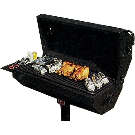 BBQ Guys Campground BBQ Charcoal Grill On Post - EC-40 B2