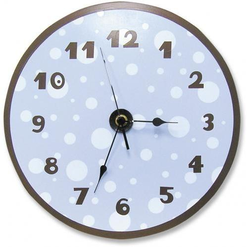 Trend Lab Wall Clock - Blue/Brown Dots