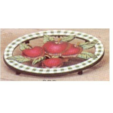 Old Dutch Hand Painted Apple Oval Trivet