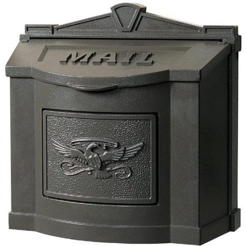 Wall Mount Series Mailbox W/ Eagle Accent - All Bronze
