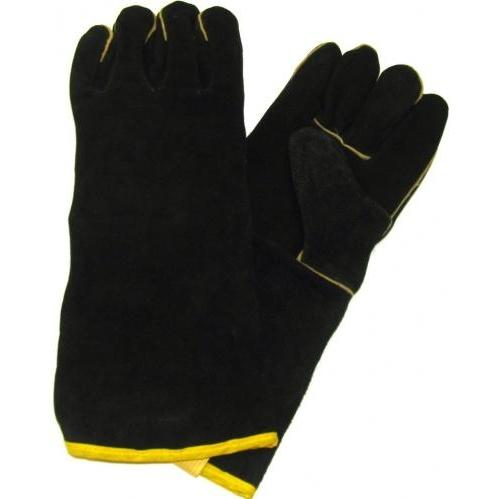 GrillPro 00528 - Black Leather BBQ Gloves