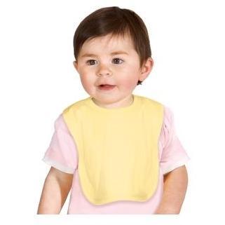 Precious Cargo Interlock Knit Baby Bib - Yellow