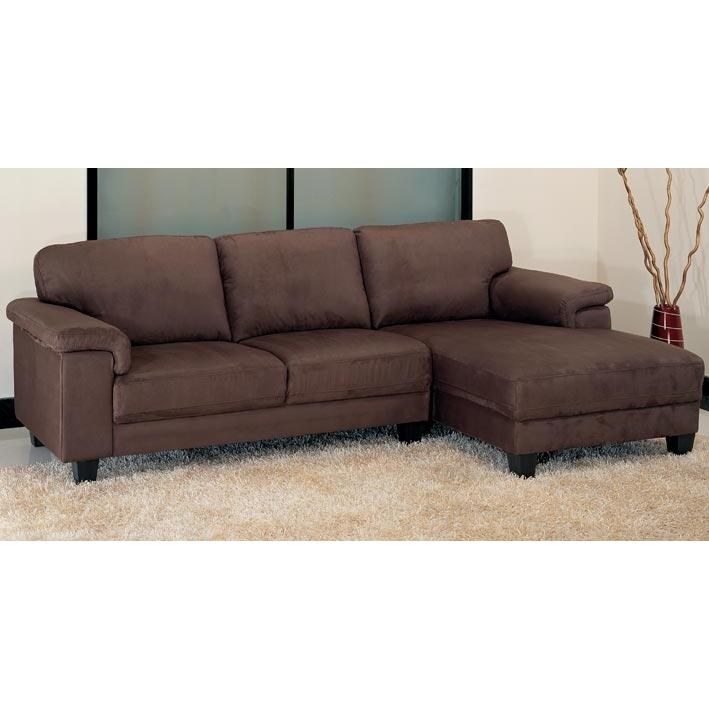 Two Tone Suede Soft Microfiber Modern Sectional Sofa