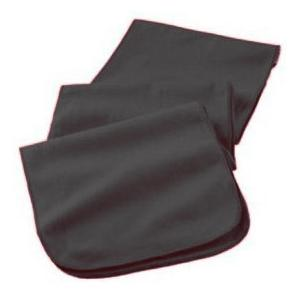 Augusta Full Length Athletic Fleece Scarf - Black