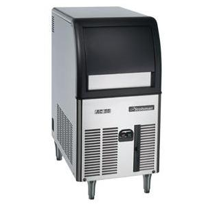 Scotsman CU0515GA1A 24 Lb Capacity Commercial Style Ice Machine - Black Door / Stainless Steel Cabinet
