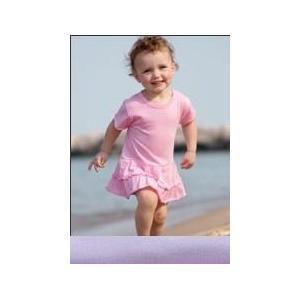 Rabbit Skins Infant Ruffle Romper Dress 12 Month - Lilac