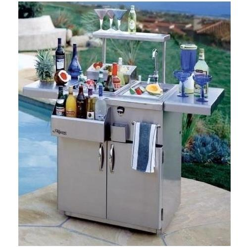 Alfresco 42 Inch Bartender On Refrigerated Cart