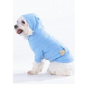 Doggie Skins Pouch Pocket Hoodie XS - Light Blue