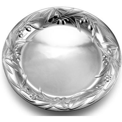Wilton Armetale Olive 14 Inch Round Tray/Polished/bx - 234104