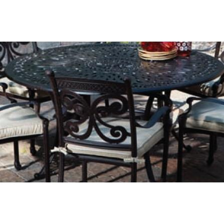 Alfresco Home Kaleidoscope 60 Inch Round Dining Table & Base - Antique Wine