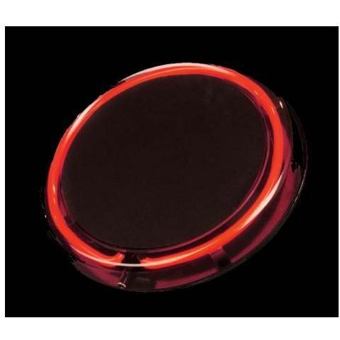 Neon Concepts 15 Inch Round Clear Top Serving Tray (Red Neon / Disposable Battery)