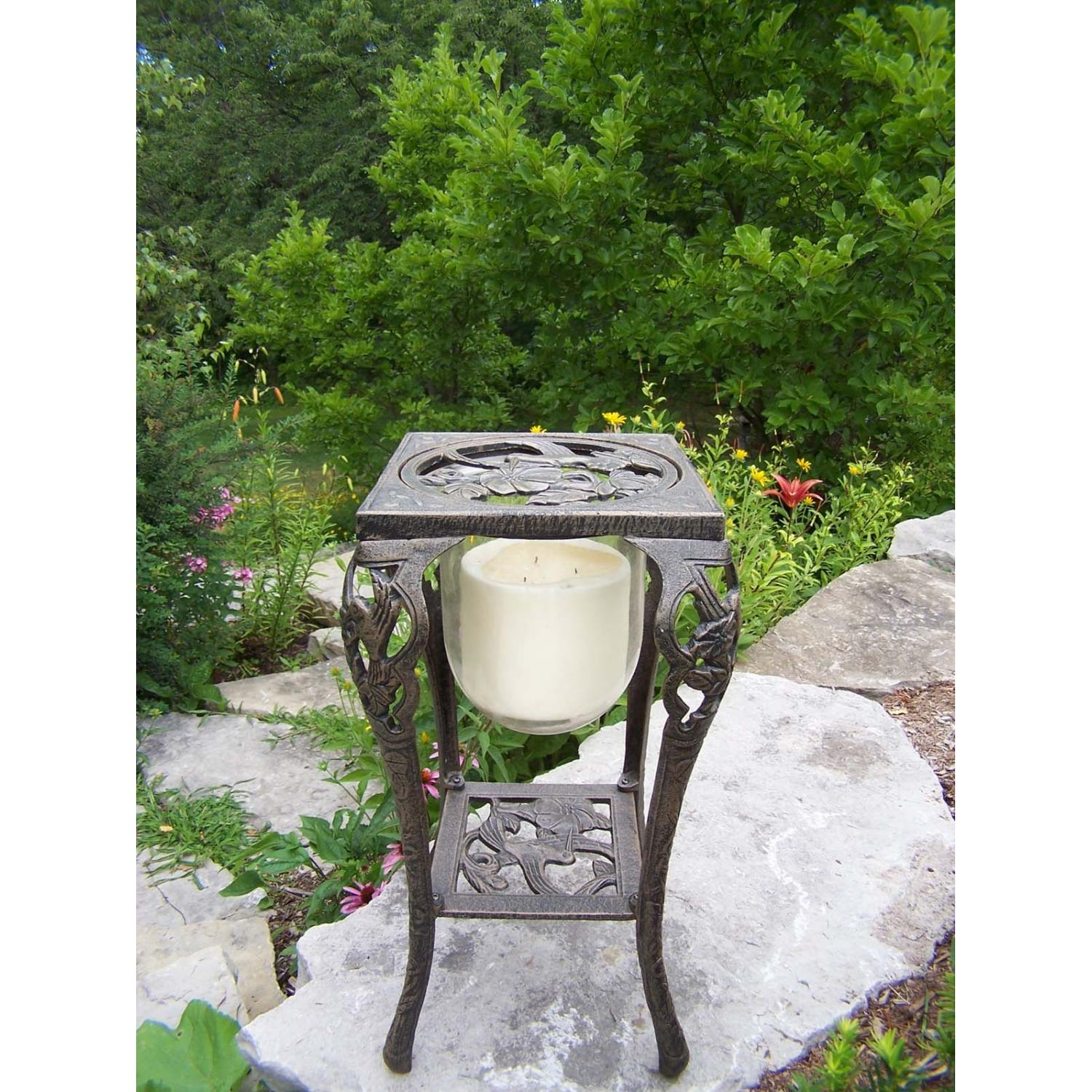 Oakland Living Hummingbird Candle Holder With Candle - Antique Bronze