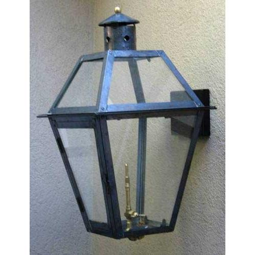 Regency GL22 Chalmette Natural Gas Light With Open Flame Burner And Manual Ignition For Post Mount
