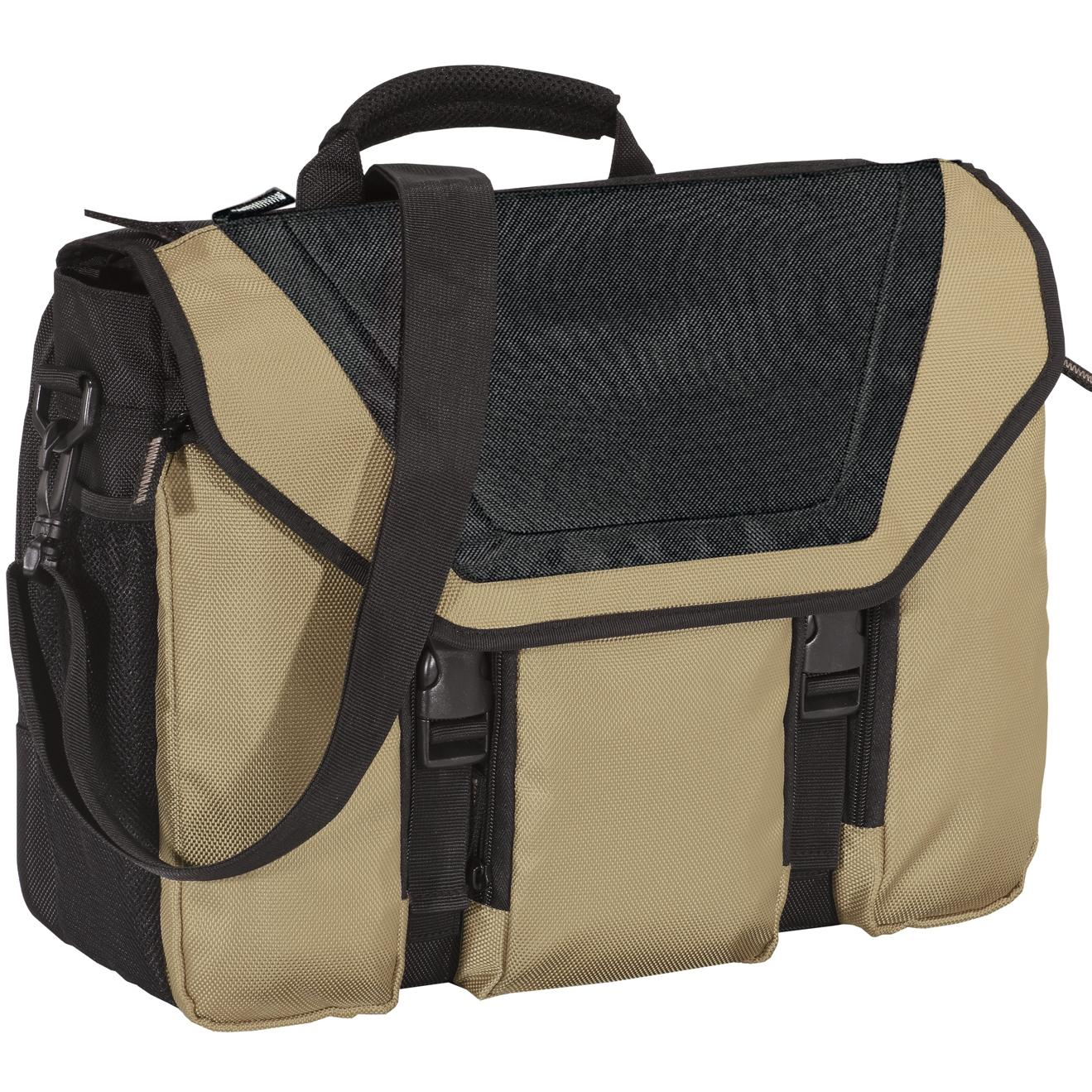 Port Authority Messenger Briefcase - Sand Dune/Black