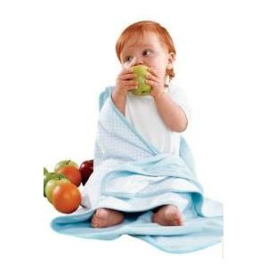 Apples & Oranges Jordan Baby Blanket - Powder Blue
