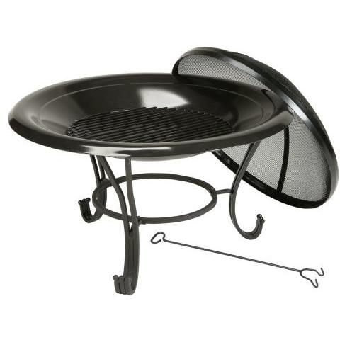 Kay Home Products Black Porcelain Fire Bowl Pit