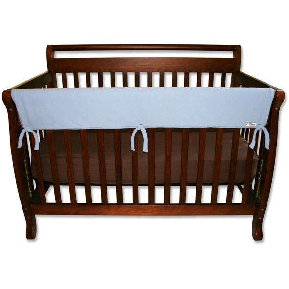 Trend Lab Wide Crib Rail Guard 51 Inch - Blue Fleece