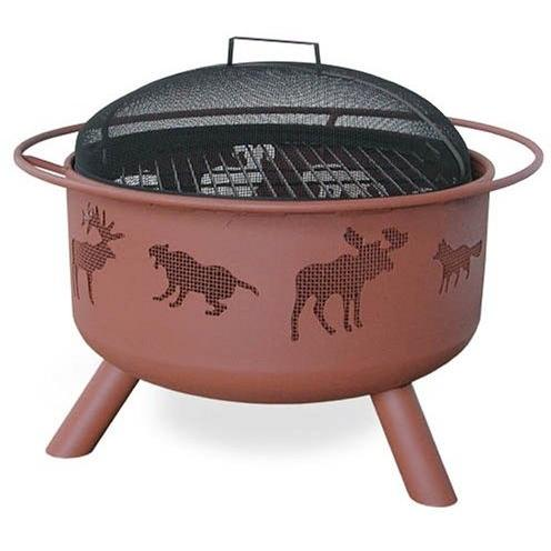 Landmann Big Sky Wildlife Fire Pit With Georgia Clay Finish