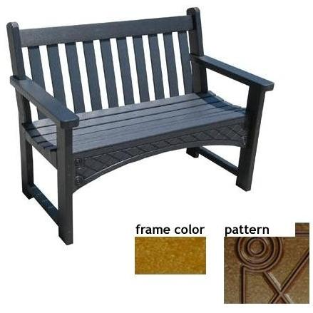 Eagle One Recycled Plastic 4 Foot Heritage Bench Diamond Pattern - Cedar