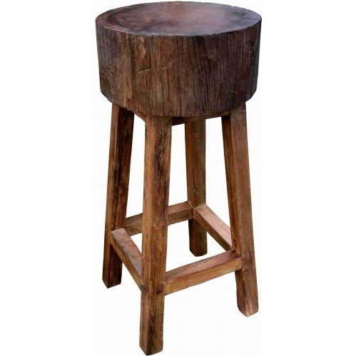 Groovy Stuff Teak Wood Stump Bar Stool - 30 Inch - TF-267-30