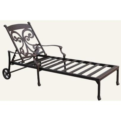 Alfresco Home Farfalla Chaise Frame - Antique Wine