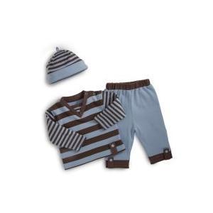 Elegant Baby Fashion Set 12 Month - Blue/Chocolate