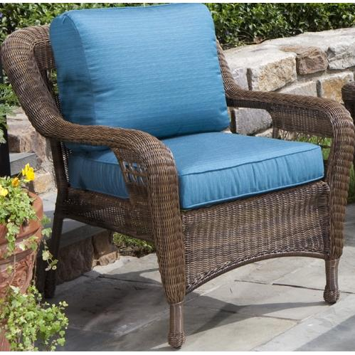 Alfresco Home Cayman Deep Seating All-Weather Wicker Lounge Chair - Coconut
