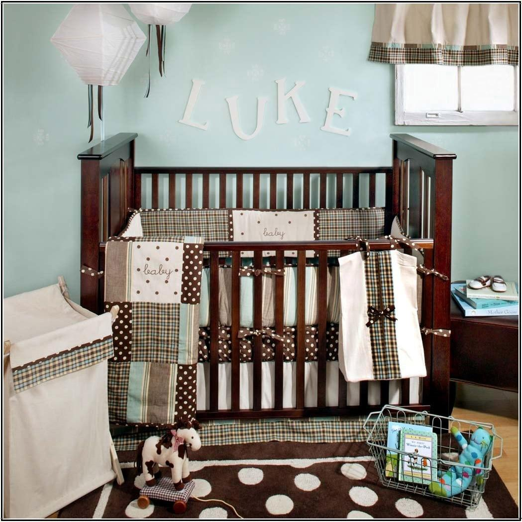 My Baby Sam 4-Piece Crib Bedding Set - Blue Mad About Plaid