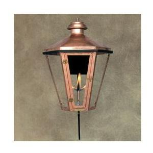 Legendary Lighting Apollo 1 Copper Gas Light - Propane With Wall Bracket