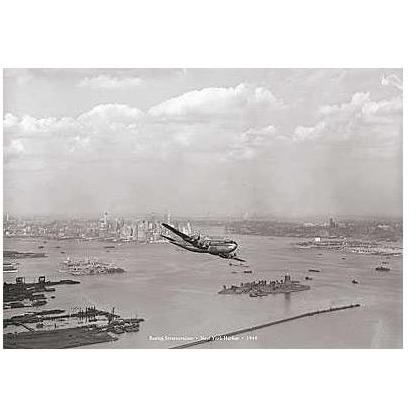 Boeing Stratocruiser, New York Harbor, 1 Poster Print