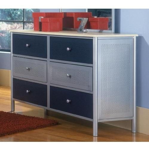 Picture of Hillsdale Universal Silver And Navy Youth Double Dresser - 1177-717