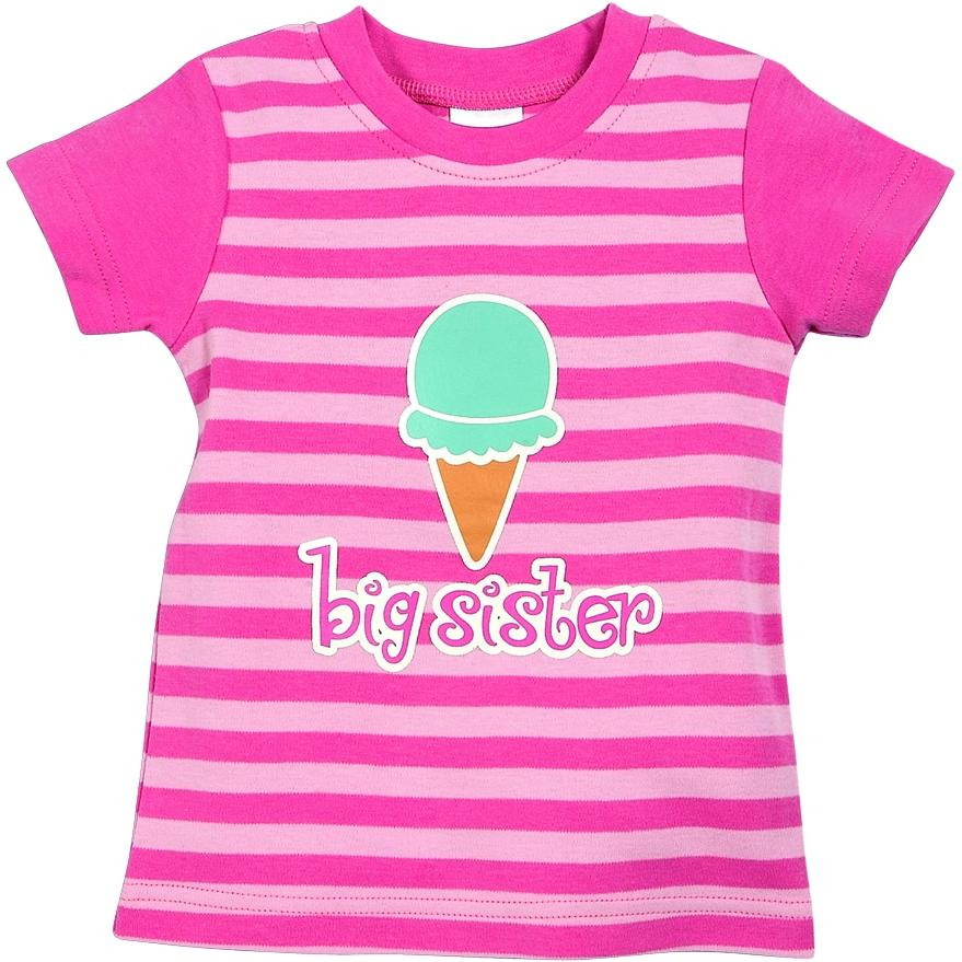 Elegant Baby Sweet Tooth Big Sister T-shirt - 5/6