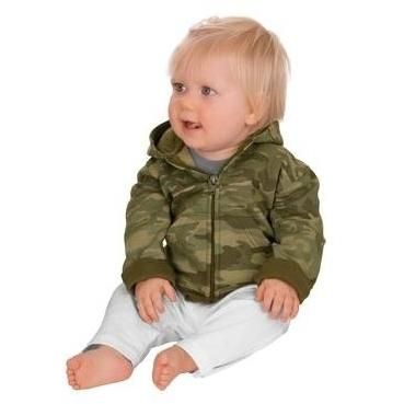 Precious Cargo Infant Full-zip Hoodie Sweatshirt 12m - Military Camo