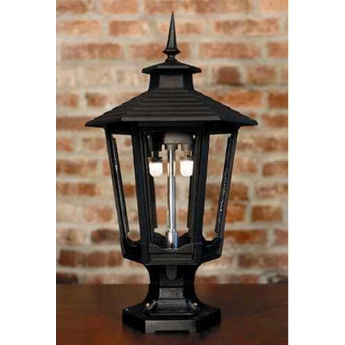 Gaslite America GL1600 Cast Aluminum Manual Ignition Natural Gas Light With Dual Mantle Burner And Pedestal Mount