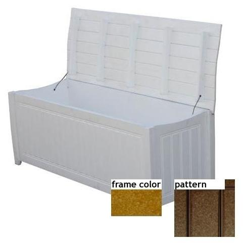 Eagle One Recycled Plastic Brisbane Curved Top Deck Box New England Pattern - Cedar