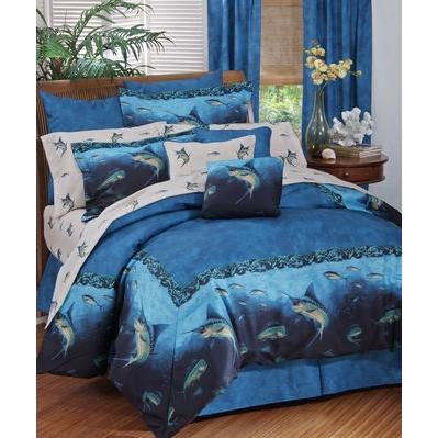 Blue Ridge Trading Coral Reef Full Comforter Bedding Set