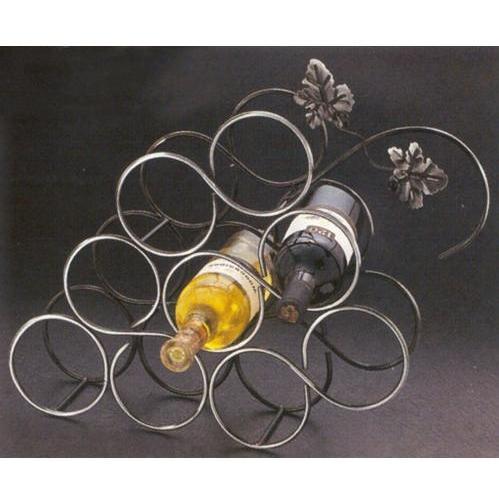 Old Dutch 9 Bottle Decorative Wine Rack - Pewter - 087PW