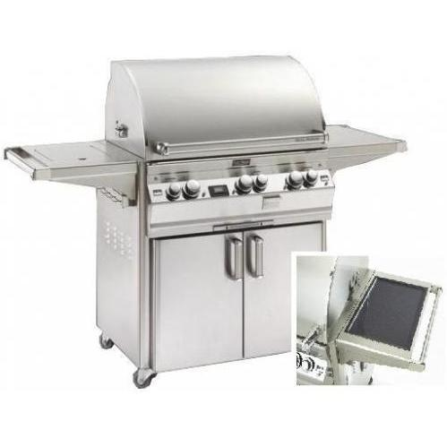 Fire Magic Gas Grills Echelon E790s Natural Gas Grill With Solar Panel & Single Side Burner On Cart