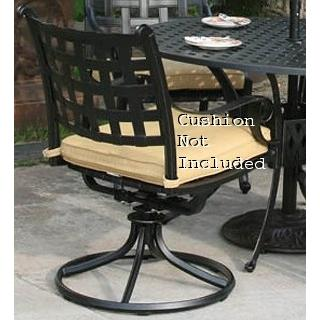 Alfresco Home Chateau Dining Swivel Rocker Frame - Antique Topaz