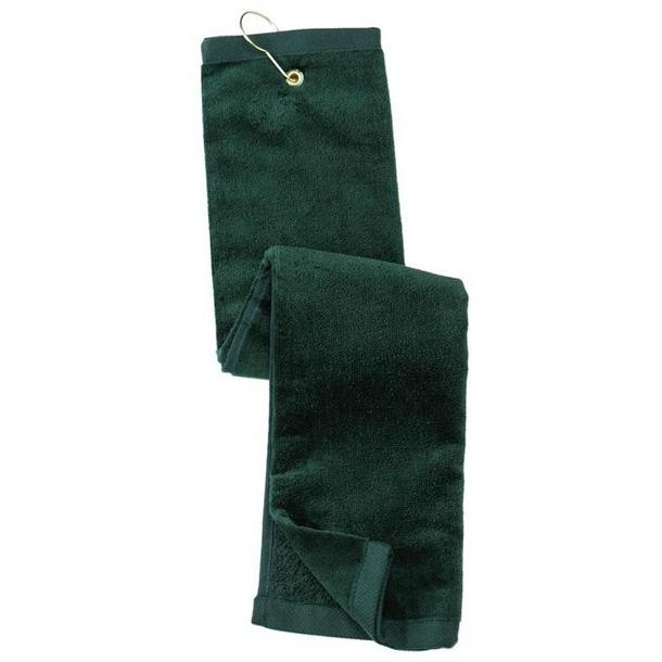 Port Authority Grommeted Tri-Fold Golf Towel - Hunter
