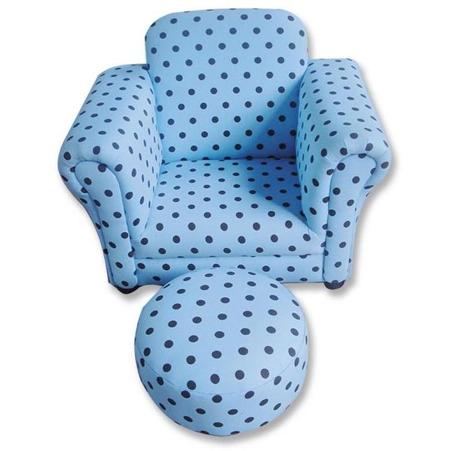 Trend Lab Childs Stuffed Chair And Ottoman - Max Dot
