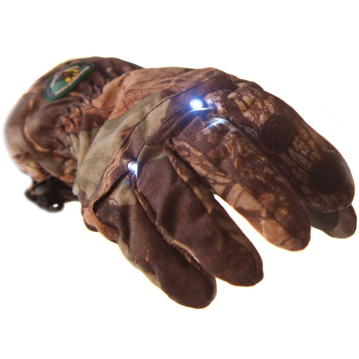 American Outdoors Hunting Hands Camouflage Led Gloves Size X-large