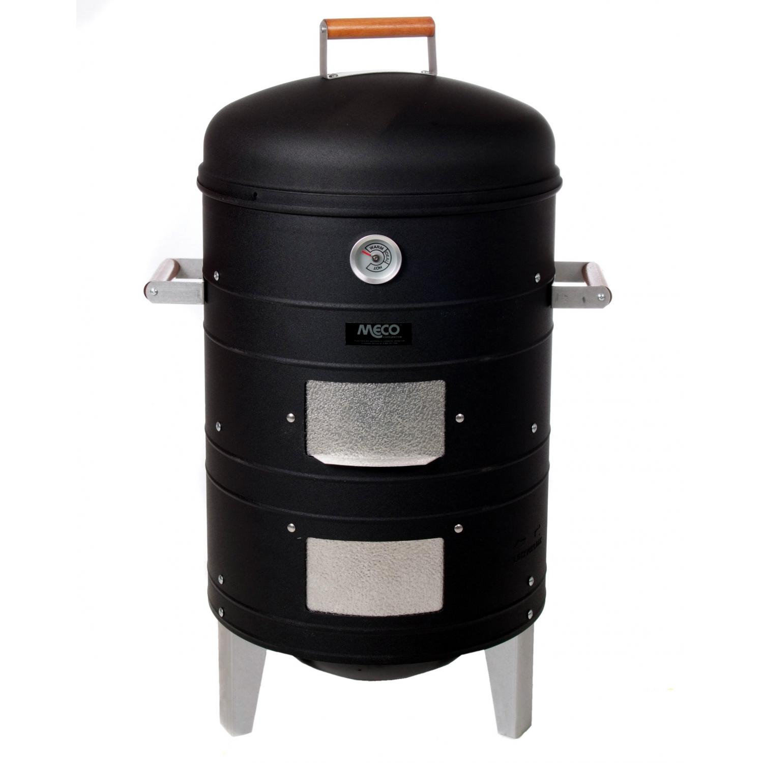 Meco Smokers - 5023I Charcoal Water Smoker - Black
